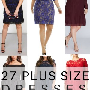 27 Plus Size Wedding Guest Dresses {with Sleeves} - Plus Size Fashion for Women - alexawebb.com #alexawebb