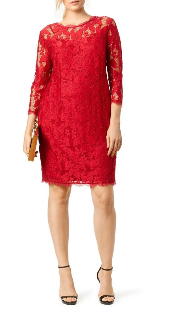 27 Plus Size Wedding Guest Dresses {with Sleeves} - Plus Size Fashion for Women - alexawebb.com #alexawebb