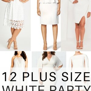 12 Plus Size White Party Dresses - Plus Size Bachelorette Party Dresses - Plus Size Bridal Shower Dresses - alexawebb.com