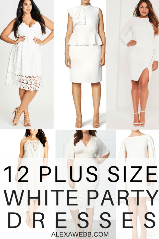 10fc47a1fd10e 12 Plus Size White Party Dresses - Plus Size Bachelorette Party Dresses - Plus  Size Bridal