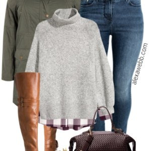 Plus Size Jeans & Over-the-Knee Boots Outfit - Plus Size Fashion for Women - alexawebb.com #alexawebb