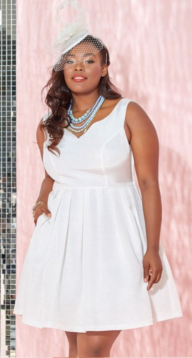 Plus Size White Party Dress 11 Alexa Webb