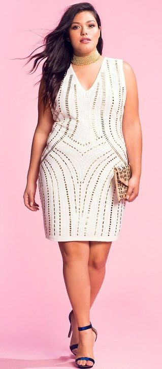 Plus Size White Party Dress 4 Alexa Webb