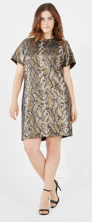 Plus Size Sequin Dress 28 Alexa Webb
