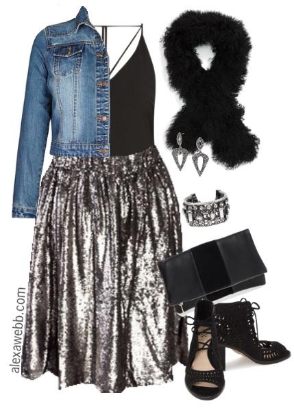 e29a3649082 Plus Size Sequin Skirt Outfit - Plus Size Fashion for Women - alexawebb.com