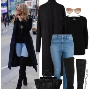 Straight Size to Plus Size – Over-the-Knee Boots Outfit - Plus Size Fashion for Women - alexawebb.com #alexawebb