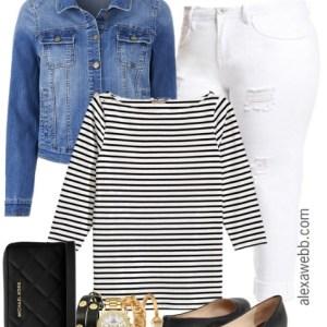 Plus Size Stripe Top Outfits - Plus Size Fashion for Women - alexawebb.com #alexawebb