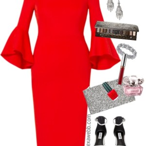 Plus Size Valentine's Day Date Outfit - Plus Size Red Dress Outfit - Plus Size Fashion for Women - alexawebb.com #alexawebb