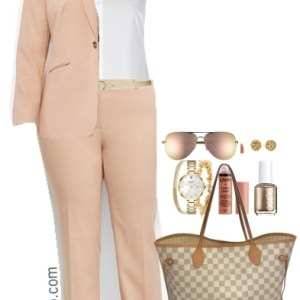 Plus Size Professional Looks for Spring - Plus Size Khaki Suit Outfit - Plus Size Work Outfit - Plus Size Fashion for Women - alexawebb.com #alexawebb