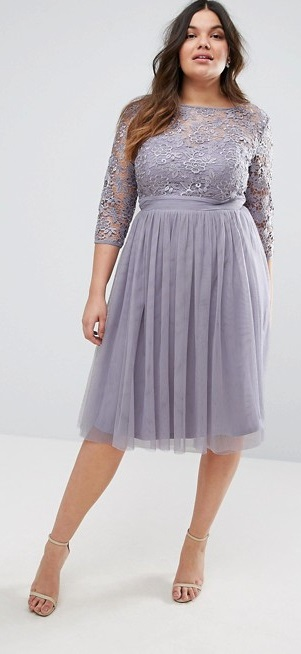 36 plus size wedding guest dresses with sleeves alexa webb for Plus size dress for wedding guest