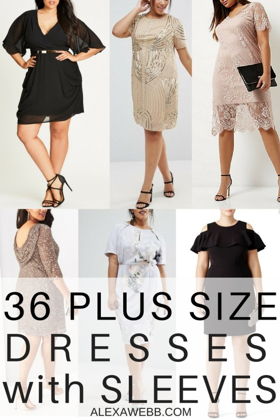 cc4a35a72e 36 Plus Size Wedding Guest Dresses {with Sleeves} - Plus Size Cocktail  Dresses -