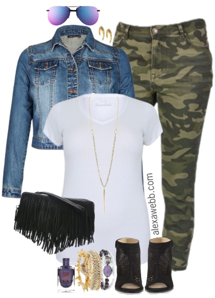 Plus Size Camo Pants Outfits - Plus Size Fashion for Women - alexawebb.com #alexawebb