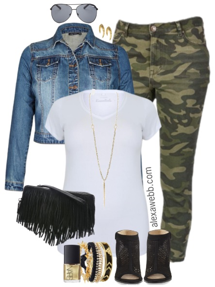 Plus Size Camo Pants Outfits - Plus Size Fashion for Women - alexawebb.com #alexawebb