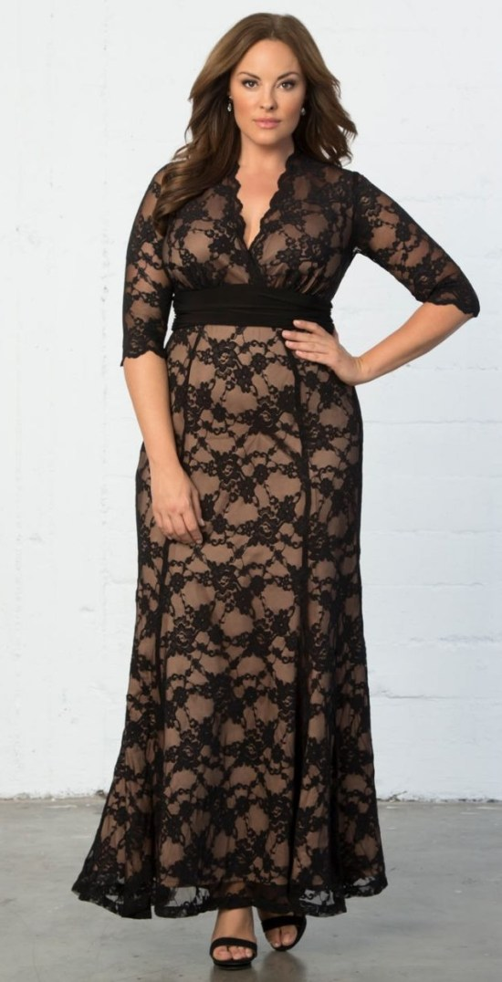 24 Plus Size Long Wedding Guest Dresses {with Sleeves} - Alexa Webb