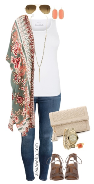 Plus Size Kimono Outfit - Plus Size Summer Outfit - Plus Size Fashion for Women - alexawebb.com #alexawebb