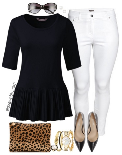 Plus Size Peplum Top Outfit - Plus Size Summer Outfit Idea - Plus Size Fashion for Women - alexawebb.com #alexawebb