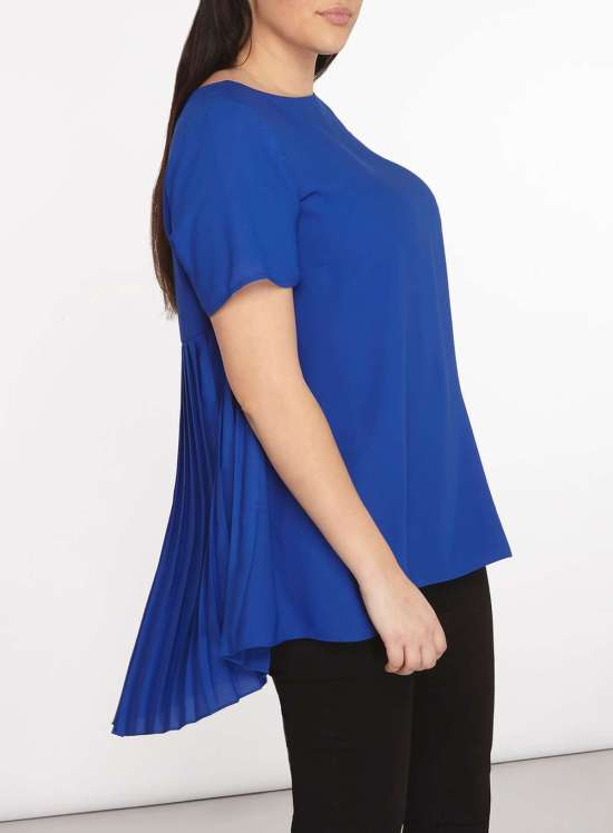 Plus Size Pleated Back Blouse