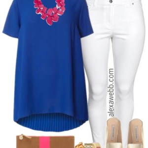 Plus Size Pleated Back Blouse Outfit - Plus Size Spring Outfit - Plus Size Fashion for Women - alexawebb.com #alexawebb