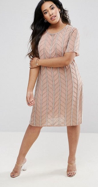 45 plus size wedding guest dresses with sleeves alexa webb for Plus size dress for wedding guest