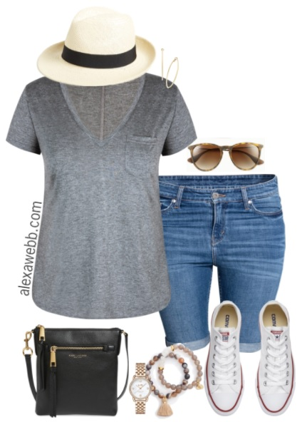 Plus Size Summer Shorts Outfit