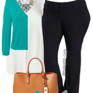 Plus Size Summer Work Outfit - Plus Size Fashion for Women - alexawebb.com #alexawebb