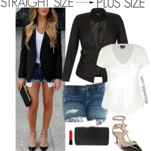 Plus Size Denim Shorts Outfit - Plus Size Summer Outfit - Plus Size Fashion for Women - alexawebb.com #alexawebb