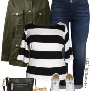 Plus Size Stripe Top Outfit - Plus Size Fall Outfit - Plus Size Fashion for Women - alexawebb.com #alexawebb
