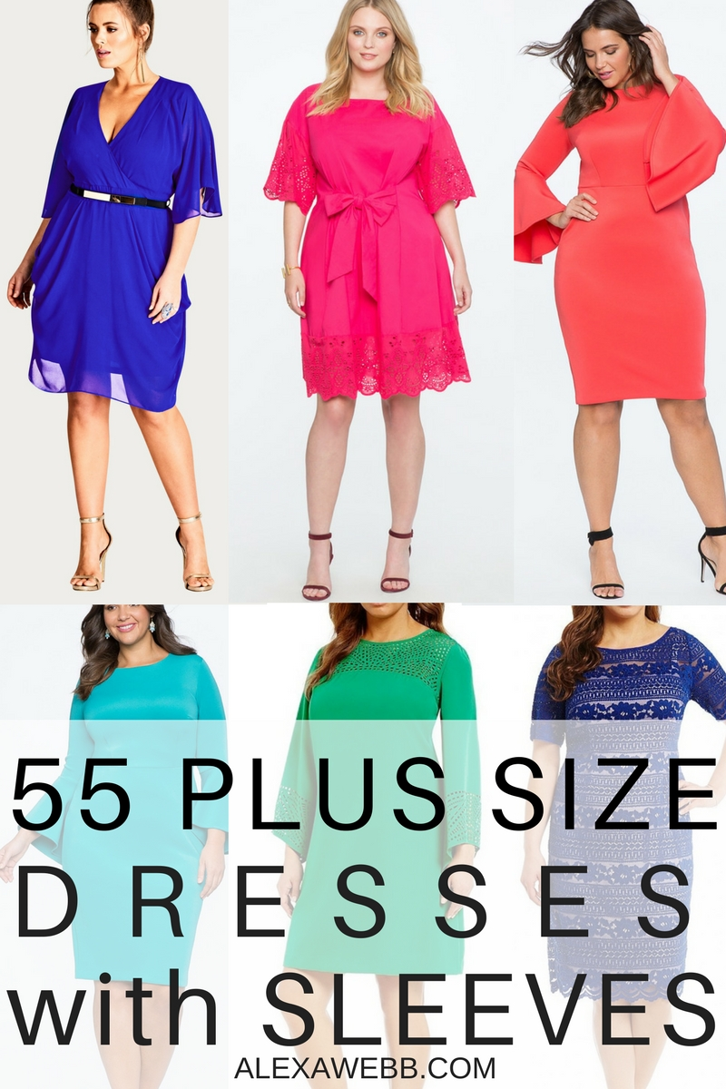 55 Plus Size Wedding Guest Dresses {with Sleeves} , Alexa Webb