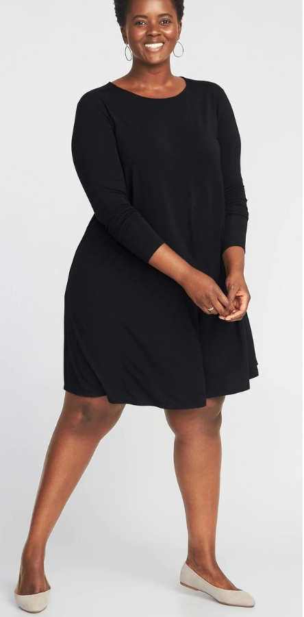 Plus Size Apple Shape Dresses - How to Dress Plus Size Apple Shapes - Plus Size Fashion for Women - alexawebb.com #plussize #alexawebb