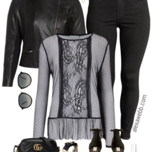 Plus Size Black Layers Outfit - Plus Size Date Night Outfit - Plus Size Fashion for Women - alexawebb.com