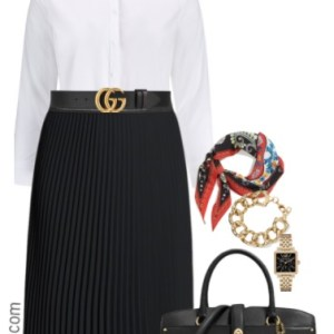 Plus Size Pleated Skirt Outfits - Plus Size Work Outfits - Plus Size Fashion for Women - alexawebb.com