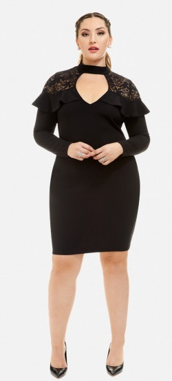 21 Plus Size Black Dresses {with Sleeves} - Plus Size Party Dresses - Plus Size Fashion for Women - alexawebb.com #alexawebb