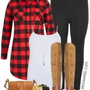 Plus Size Buffalo Plaid Shirt Outfit - Plus Size Fall Outfit - Plus Size Fashion for Women - alexawebb.com #alexawebb #plussize