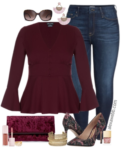 Plus Size Dressed Up Jeans Outfit Alexa Webb