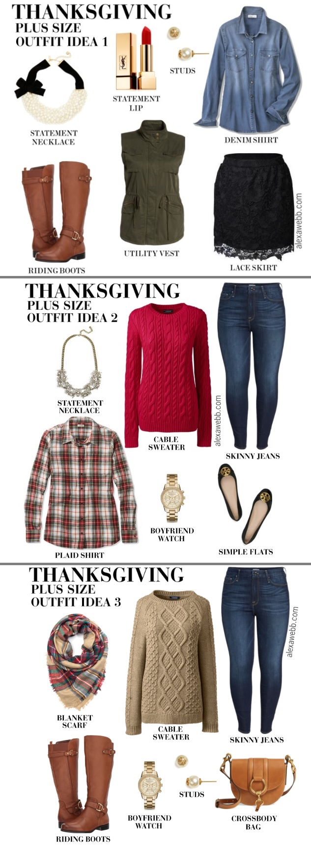 plus size thanksgiving outfits  alexa webb
