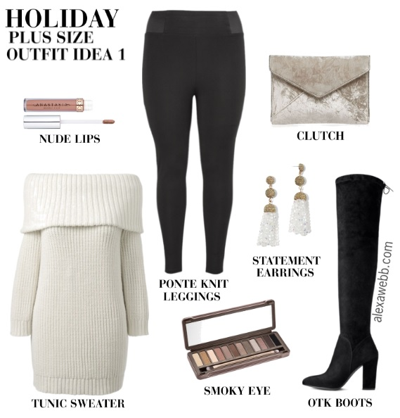 a2d7c534aaf Plus Size Christmas Day Outfits - Alexa Webb