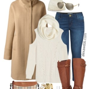 Plus Size Cream Sweater Outfit - Plus Size Fashion for Women #plussize #alexawebb alexawebb.com