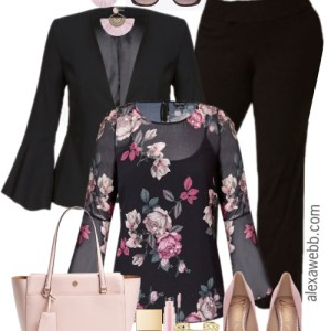 Plus Size Floral Top Work Outfit - Plus Size Workwear - Plus Size Fashion for Women - alexawebb.com #plussize #alexawebb