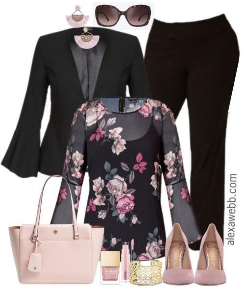 Plus Size Floral Top Work Outfit - Plus Size Workwear - Plus Size Fashion for Women - alexawebb.com #plussize #alexawebb