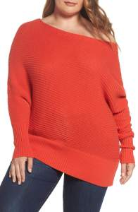 Plus Size Orange Sweater Outfit - Plus Size Fashion for Women - Plus Size Outfit Idea - alexawebb.com #alexaewebb #plussize