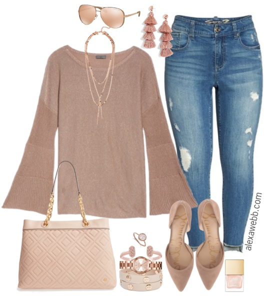 Plus Size Rose Gold Outfit