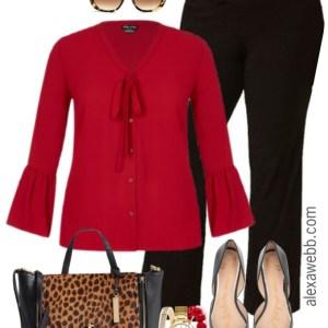 Plus Size Black Trouser Work Outfit - Plus Size Fashion for Women - alexawebb.com #alexawebb #plussize