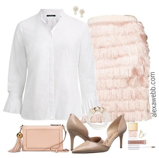 Plus Size Fringe Skirt Outfits - Plus Size NYE Outfit Ideas - Plus Size Fashion for Women #alexawebb #plussize