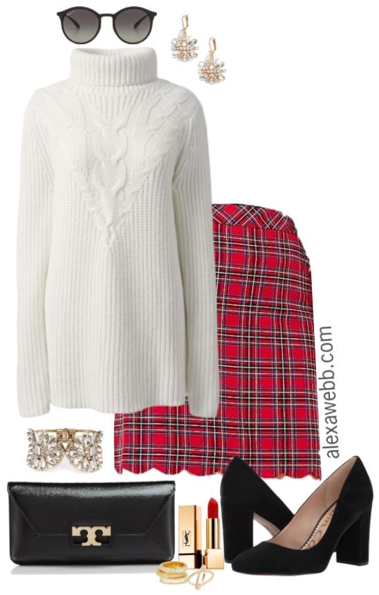 11d2441c6224d Plus Size Holiday Plaid Outfit - Plus Size Christmas Outfit - Plus Size  Fashion for Women