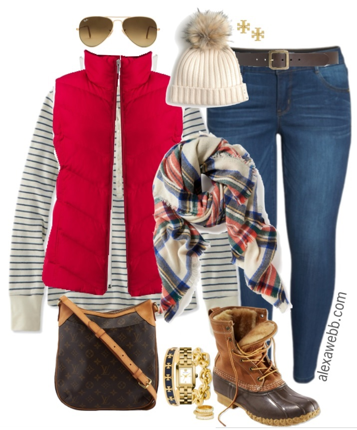 Plus Size Red Vest Outfit