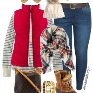 Plus Size Red Vest Outfit - Plus Size Fashion for Women - Plus Size Winter Outfit Idea - alexawebb.com #alexawebb #plussize