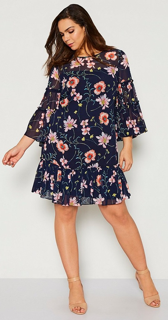 39 Plus Size Spring Wedding Guest Dresses {with Sleeves} - Alexa Webb
