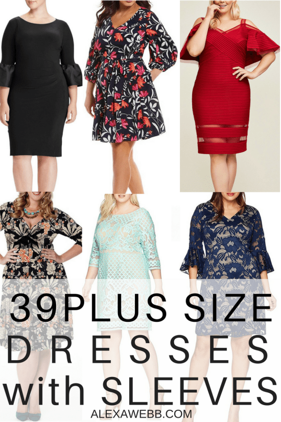 21 Plus Size Wedding Guest Dresses {with Sleeves} - Alexa Webb