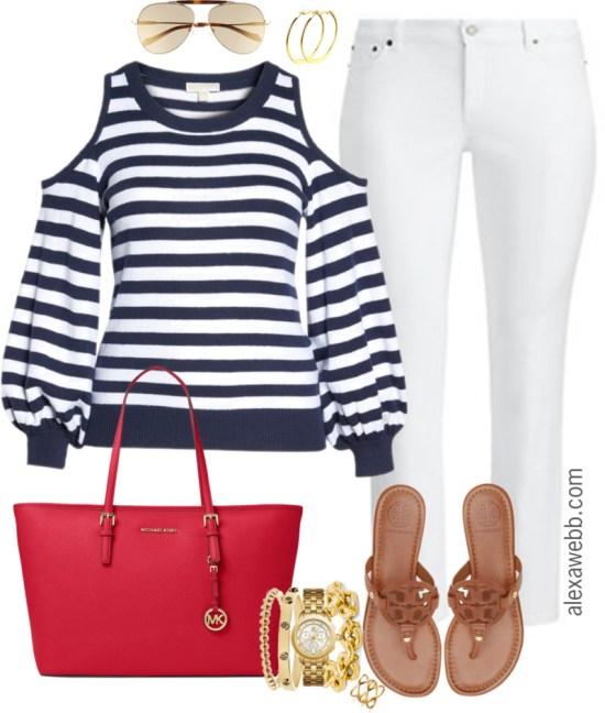Plus Size Preppy Spring Outfit - Plus Size Outfit Idea - Plus Size Fashion for Women - alexawebb.com #alexawebb