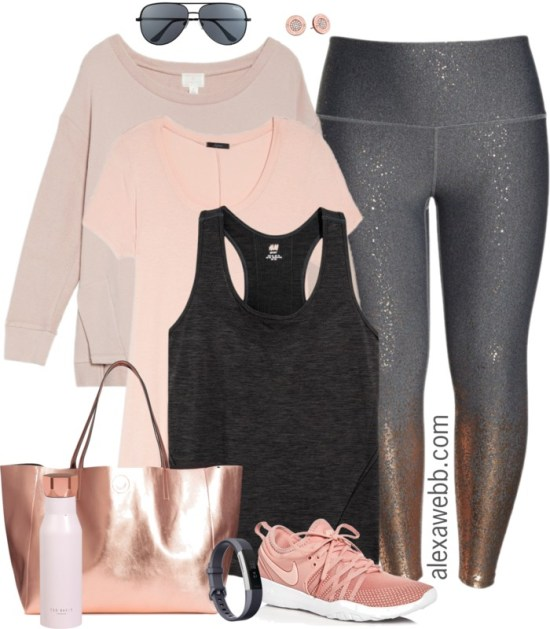 Plus Size Rose Gold Workout Clothes Alexa Webb